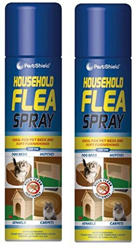 2 X 200ml Pest Shield Household Flea, Killer, Spray Ideal For Pet Beds And Soft Furnishings Kill Fleas Instantly