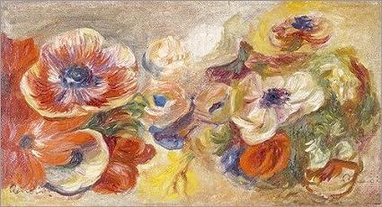 Cuadro Sobre Lienzo 110 x 60 cm: Anemones de Pierre-Auguste Renoir - Cuadro Terminado, Cuadro Sobre Bastidor, lámina terminada Sobre Lienzo auténtico, impresión en Lienzo