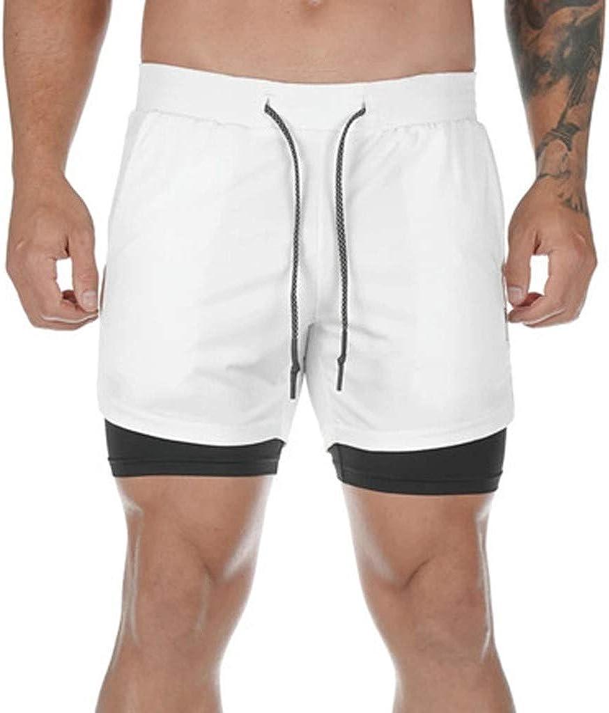 NUSGEAR Pantaloncini Palestra Uomo Bodybuilding Shorts Uomini Running Basket Pantalone da Spiaggia Pantaloni Corti con Tasche Casual Sportive Pantaloncini Allenamento