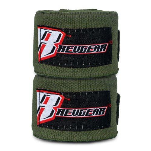 Revgear 2-Inch Wide Elastic Hand Wrap, Army, 120-Inch