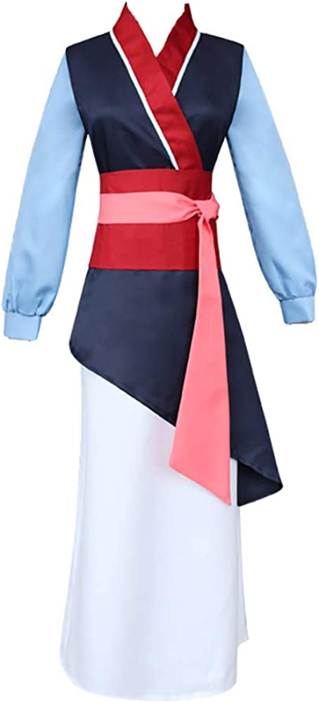Princess Mulan Dress Costume for Women Hua Mulan Outfit
