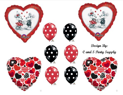 RED MICKEY AND MINNIE MOUSE DECORATIVE BIRTHDAY PARTY