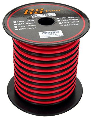 10 gauge copper clad aluminum 50 ft red and black bonded. Black Bedroom Furniture Sets. Home Design Ideas