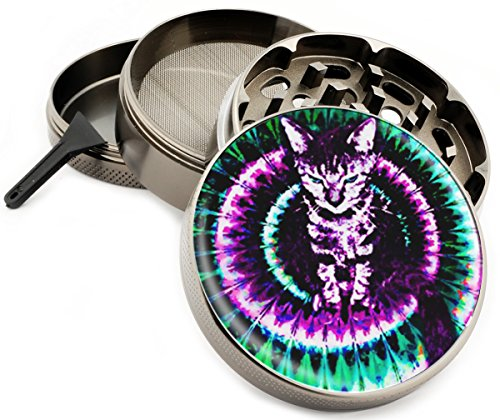 Trippy-Kitty-4-Piece-Herb-Grinder-Premium-Quality-Zinc-Grinders-25-Wide-Tie-Dye-Cat-Cats-Pets-Hippie-large-Titanium-Gift-Box