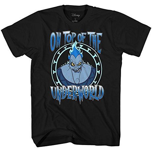 Disney Hercules Hades On Top of The Underworld Mens T-Shirt (XXL, Black) -