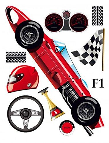Kids worlds formula 1 racing car wall tattoos stickers poster sticker 65 x