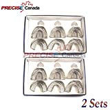 PRECISE CANADA: SET OF 2 DENTAL IMPRESSION TRAYS BABY SET OF 6 PCS PEFORATED DENTAL INSTRUMENTS