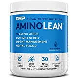 RSP AminoLean - All-in-One Pre Workout, Amino Energy, Weight Management Supplement with Amino Acids, Complete Preworkout Energy for Men & Women, Blue Raspberry, 30 (Packaging May Vary)