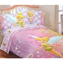 Disney Fairies Tinkerbell Whimsy 4pc Full Bed Sheet Set