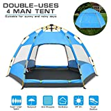 BATTOP 4 Person Tent [Double-Uses] Instant Pop Up Family Camping Tent – Double Layer – Waterproof – 4 Season Backpacking Tent