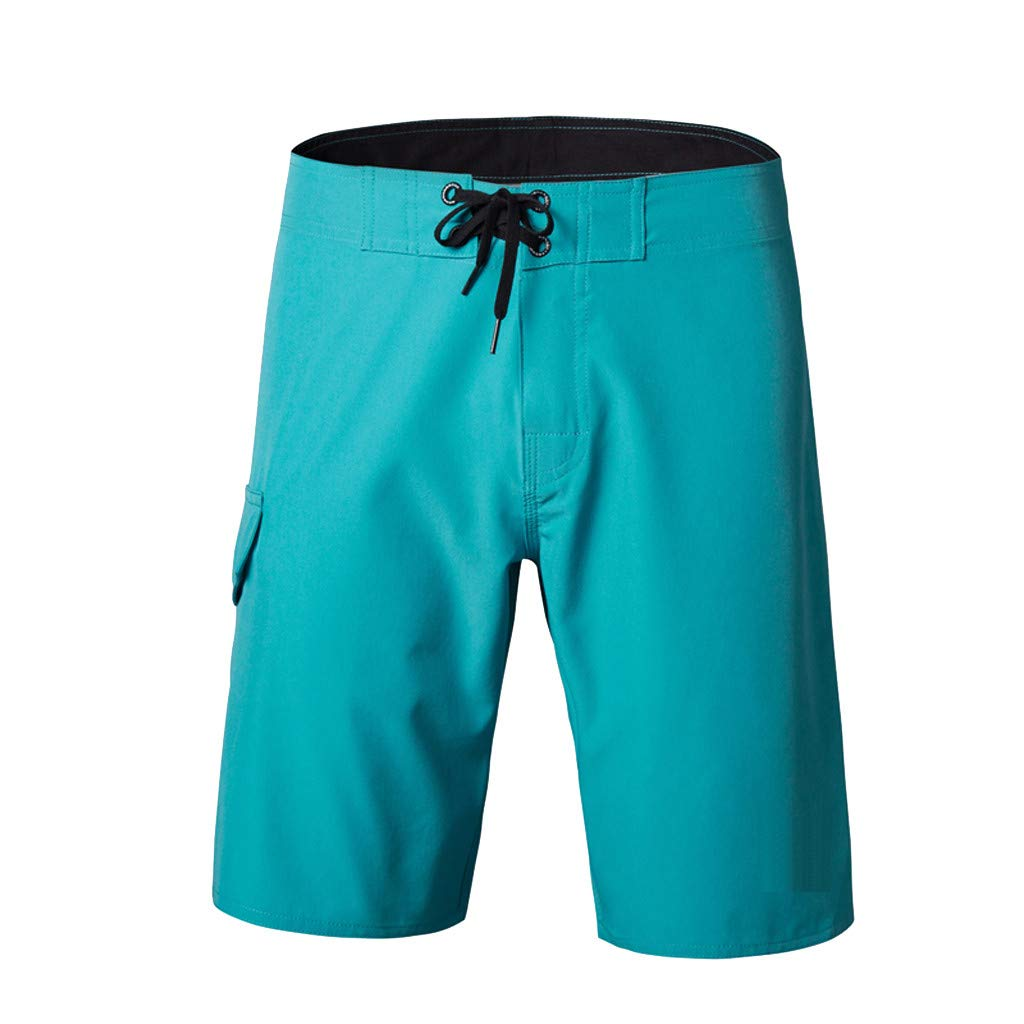 Solid Color Board Shorts,Men's Fashion Casual Full Colour Beach Surfing Swimming Loose Short Pants
