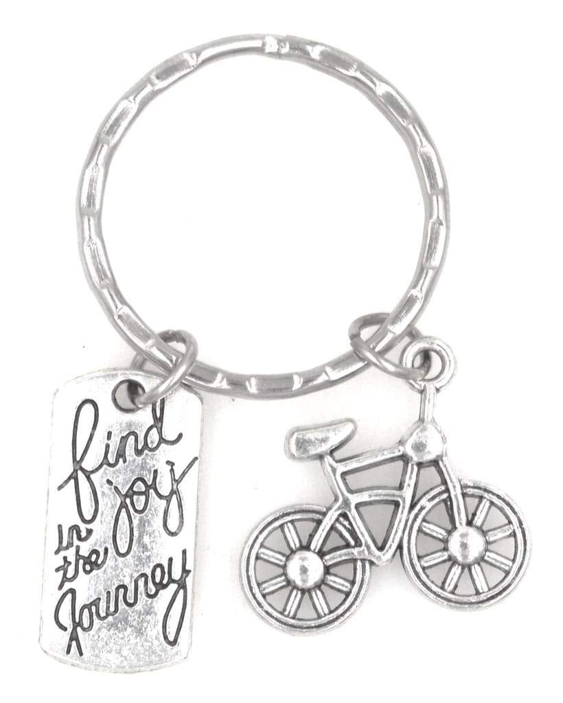 Find Joy in the Journey Bicycle Keychain 105J