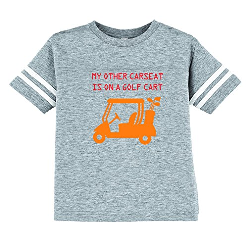 My Other Car Seat is On A Golf Cart Toddler Football Jersey T-Shirt Tee Oxford Gray 3T Pro Style Football Jersey