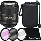 Nikon AF-S DX NIKKOR 18-300mm f/3.5-6.3G ED VR Lens Bundle for Nikon DSLR Cameras (White Box)