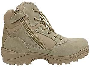 """6"""" Ryno Gear Tactical Combat Boots (Beige) (6) Wide"""