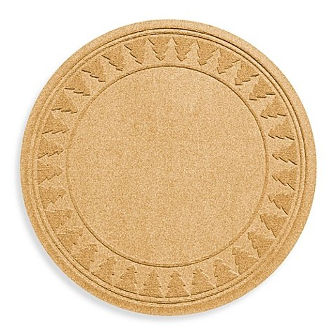Weather Guard Round Christmas Tree Skirt Mat Protects Against Slips and Spills (Gold)