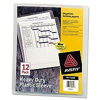 Avery 72611 Mangas plásticas resistentes, carta, polipropileno, transparente (paquete de 12)
