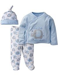Gerber Baby Boys' 3 Piece Side Snap Mitten Cuff Shirt,...