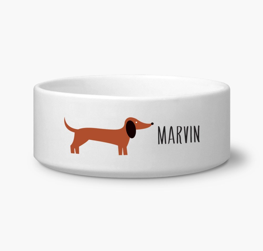 Dachshund Custom Name Dog Bowl 6
