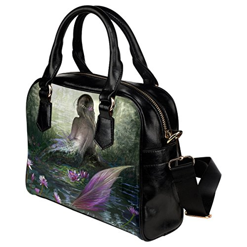 Aslant Shoulder Mermaid InterestPrint Leather PU Girl's And Tote Hand Women's vBBxwY