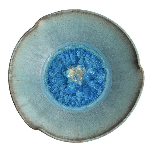 Dock 6 Pottery Pinched Rim Bowl with Fused Glass, Turquoise, Small from Dock 6 Pottery