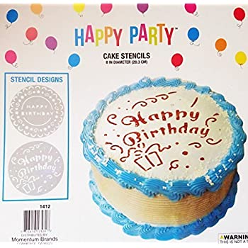 Cake Stencils Happy Birthday Pack Of 2 Different Designs