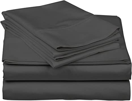 Sateen Weave Fits Mattress 16 Deep Pocket Kemberly Home 600 Thread Count 100/% Egyptian Cotton Sheets Black Extra Long-Staple Cotton Full Sheets Soft Cotton 4 Piece Bed Sheets Set