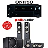 Polk Audio Signature S50 5.1-Ch Home Theater Speaker System with Onkyo TX-NR656 7.2-Ch Network AV Receiver