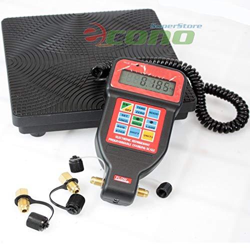 (9TRADING HVAC A/C Programmable Charging Refrigerant Digital Scale R22 R12 R404A R134A)