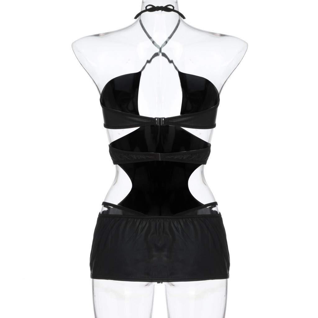 Luckycat Mujeres Lencería Sexy Vestido de Club Nocturno Pasión Tentación de Charol Pole Dance Body Temptation Clubwear Lencería Mujeres de Charol Ropa ...