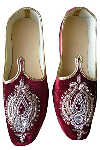 Granate Diseñador MJ0186 de Zapatos INMONARCH Terciopelo de Boda Hombres tAqvWBw