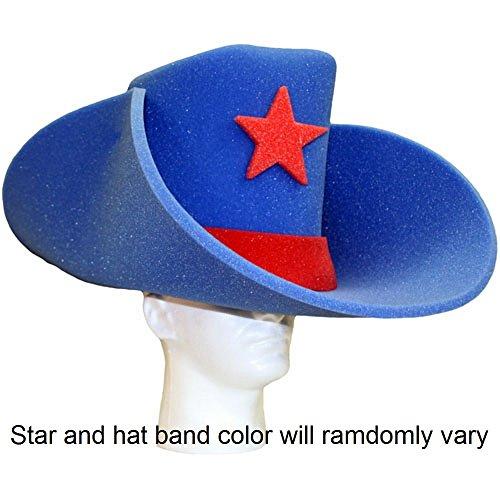 Super Sized 50 Gallon Foam Cowboy Hat - Royal Blue