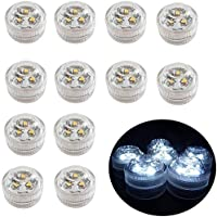 12pcs Flameless LED Tea Light Candles Battery Operated Waterproof Submersible Decorative Mood Lights for Party Birthday…