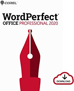 Corel WordPerfect Office 2020 Professional | Word Processor, Spreadsheets, Presentations, Paradox Database Management Documents, Letters, Contracts, Pleading papers, eBooks [PC Download]