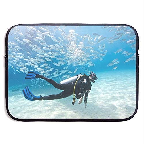 (Jingclor Business Briefcase Sleeve Phuket Scuba Diving Art Portable Laptop Liner Protective Bag for MacBook Pro/MacBook Air/Asus/Dell)