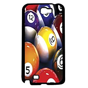 Colorful Assortment of Pool Table Balls Hard Snap on Phone Case (Note 2 II) by lolosakes