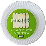 Perfect Stix Paper Plate 6-300 6 Paper Plates White (Pack of 300)
