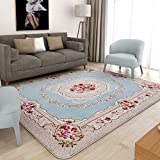 Decorative rugs,Xiandai carpe Living room Simple [modern] Tea table Wall-to-wall Bedroom Bedside blanket [coral] Carpet-B 51x75inch(130x190cm)