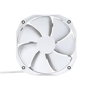 Phanteks 140mm CPU Cooler Fan Upgrade, PWM, 1600 RPM High-Static Pressire Retail Cooling PH-F140HP_WT2 White