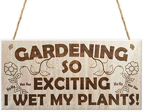 Wet their Plants Garden Plaque welcome Gift