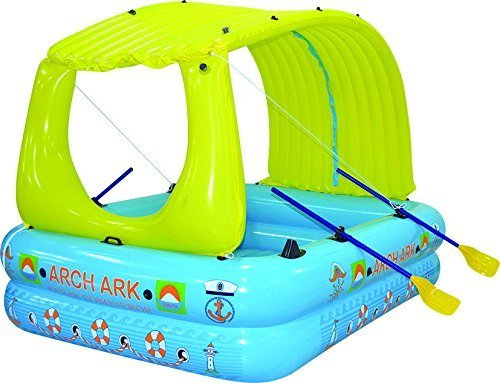 Arch Ark- 10-in-1 Inflatable raft+boat+pool+waterslide+mattress+tent by ARCH ARK