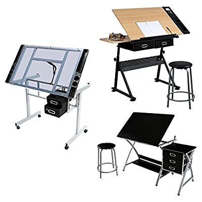 Yaheetech Adjustable Drafting Drawing Painting Table Art Bench