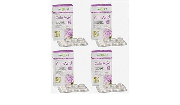 Biosline - CalmAcid - 4 paquetes de 20 tabletas para la acidez, el ardor estomacal y la gastritis: Amazon.es: Salud y cuidado personal