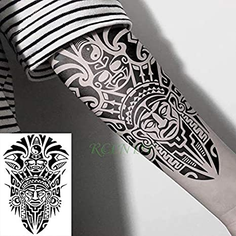 Etiqueta engomada del Tatuaje a Prueba de Agua Tótem Tribal Tatto ...
