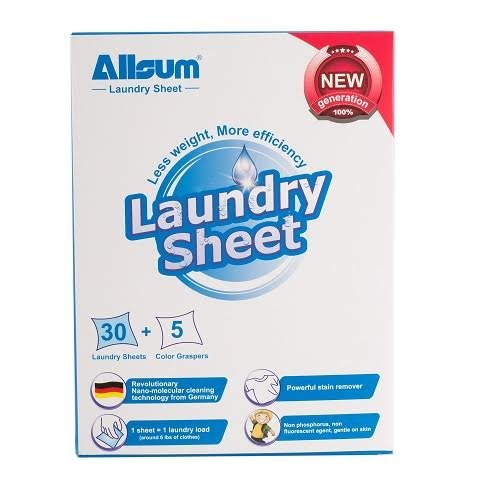 Allsum 30-Piece Laundry Sheets with 5 Color Graspers