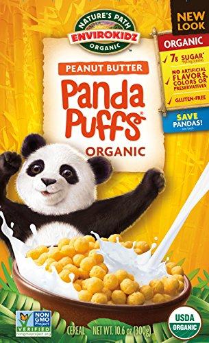 EnvirokidzOrganic Gluten-Free Cereal, Peanut Butter Panda Puffs, 10.6 Ounce Box (Pack of 6)