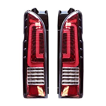 標準/ 2型 オールLEDテールライト 純正交換タイプ ハイエース専門店 1型 4型 ワイドボディ フルLED 3型後期 ハイエース200系 ブラック/ クリア×レッド/ レッド 3型前期 テールランプ