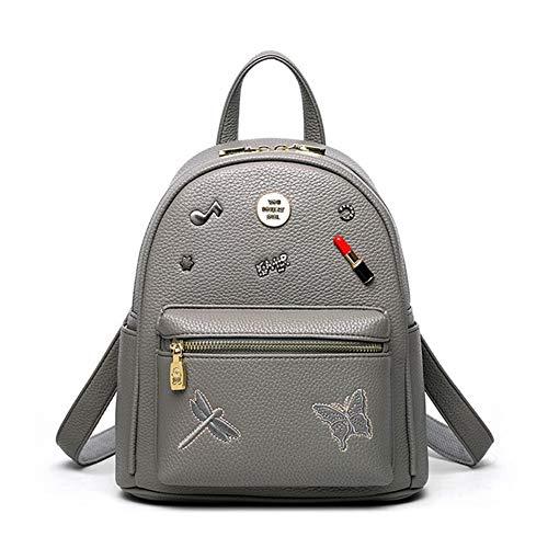 Dos Filles Big Mode Les Bags Daypack VHVCX Broderie À Sac École Pour Femmes Pu Féminine Sacs Gray w7nnqXtv