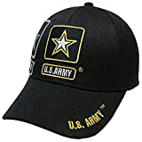 Military Officially Licensed United States Army Black Bill Hat Cap Lid Beanie
