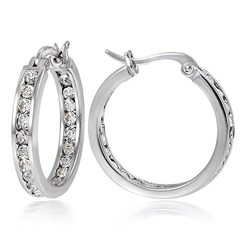 Hoops Loops Sterling Zirconia Channel Set
